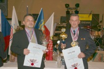 Vítězné družstvo Ostatních ozbrojených složek ve střelbě zeSa vz.58 + Pi CZ 75 • Městská policie Chodov • Pohár – AVZO – CREW Cheb – město – Hirschau/Opf.